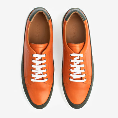 Fifth Ave Sneaker in Orange Overhead