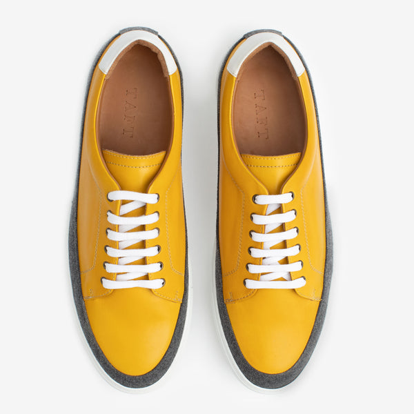 Fifth Ave Sneaker in Yellow Overhead