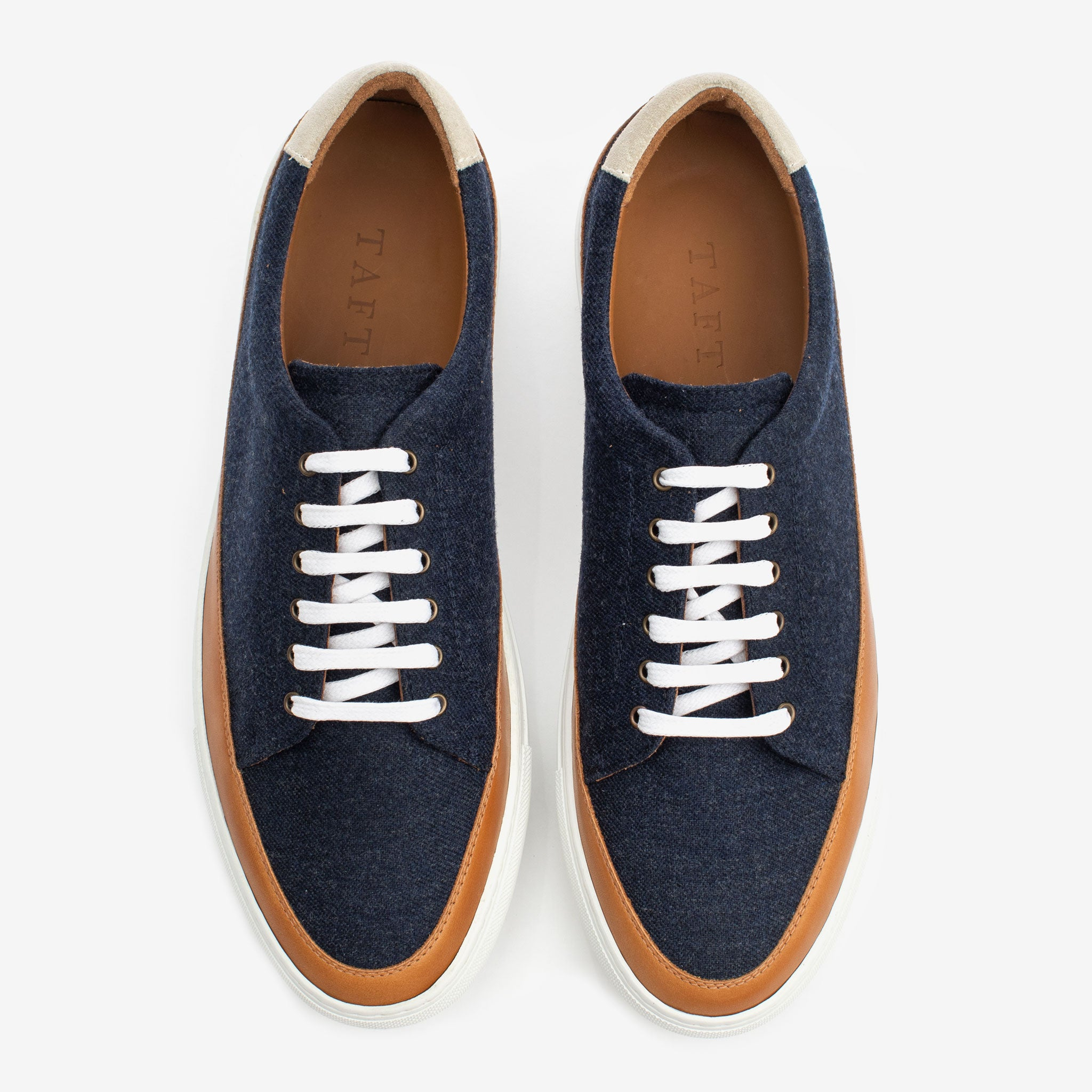 Fifth Ave Sneaker in Navy Overhead