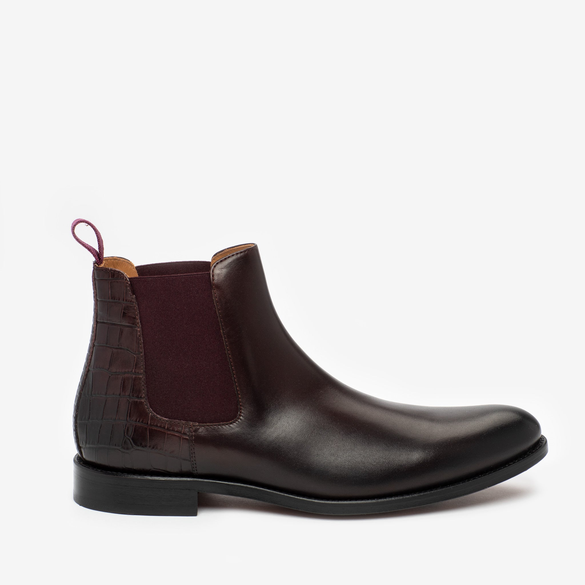 Hiro Boot in Oxblood side view