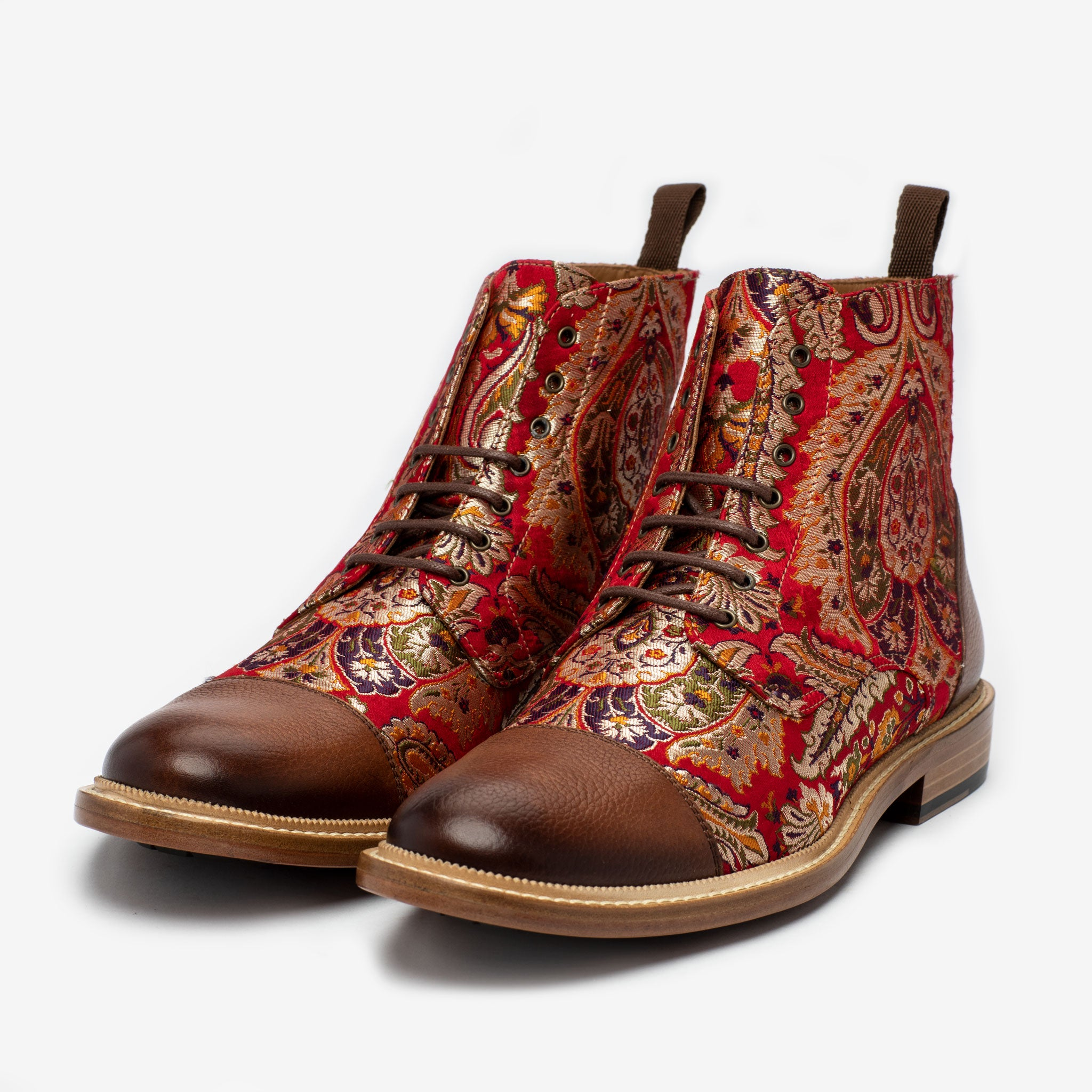 The Jack Boot in Red Paisley