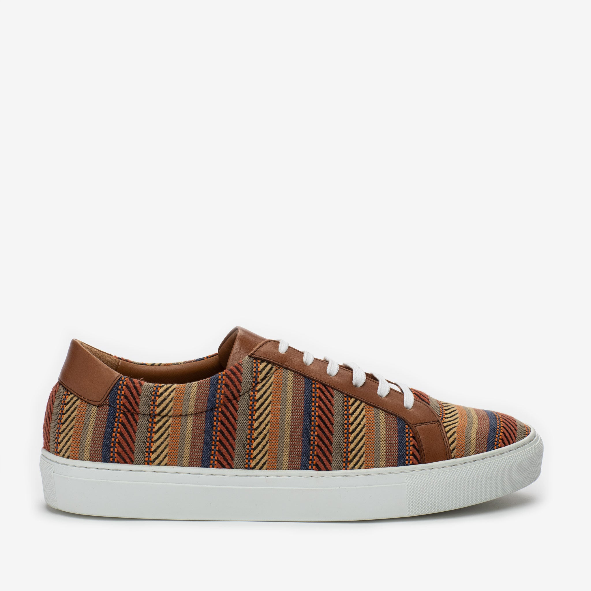 The Sneaker in Sienna Stripes