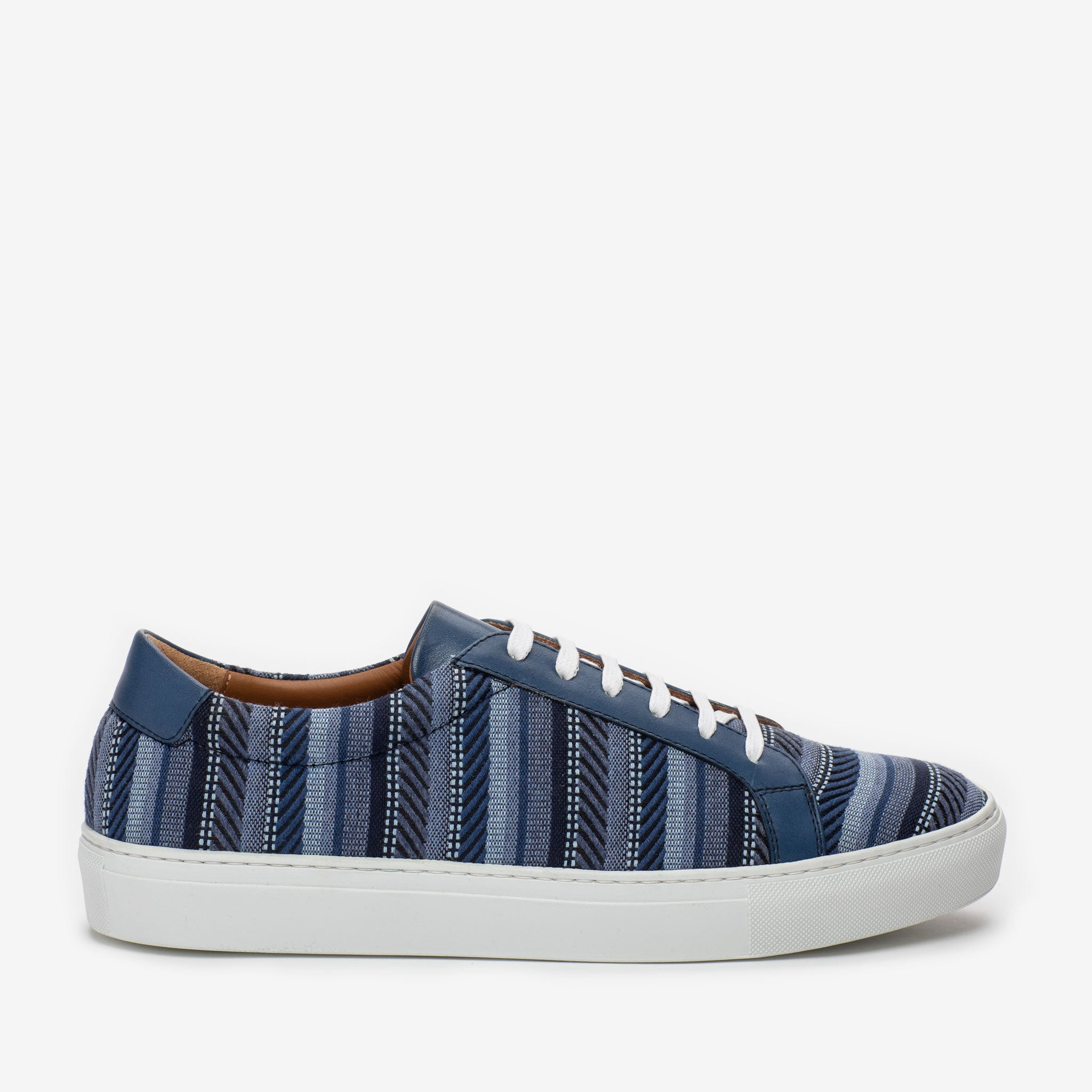 The Sneaker in Blue Stripes