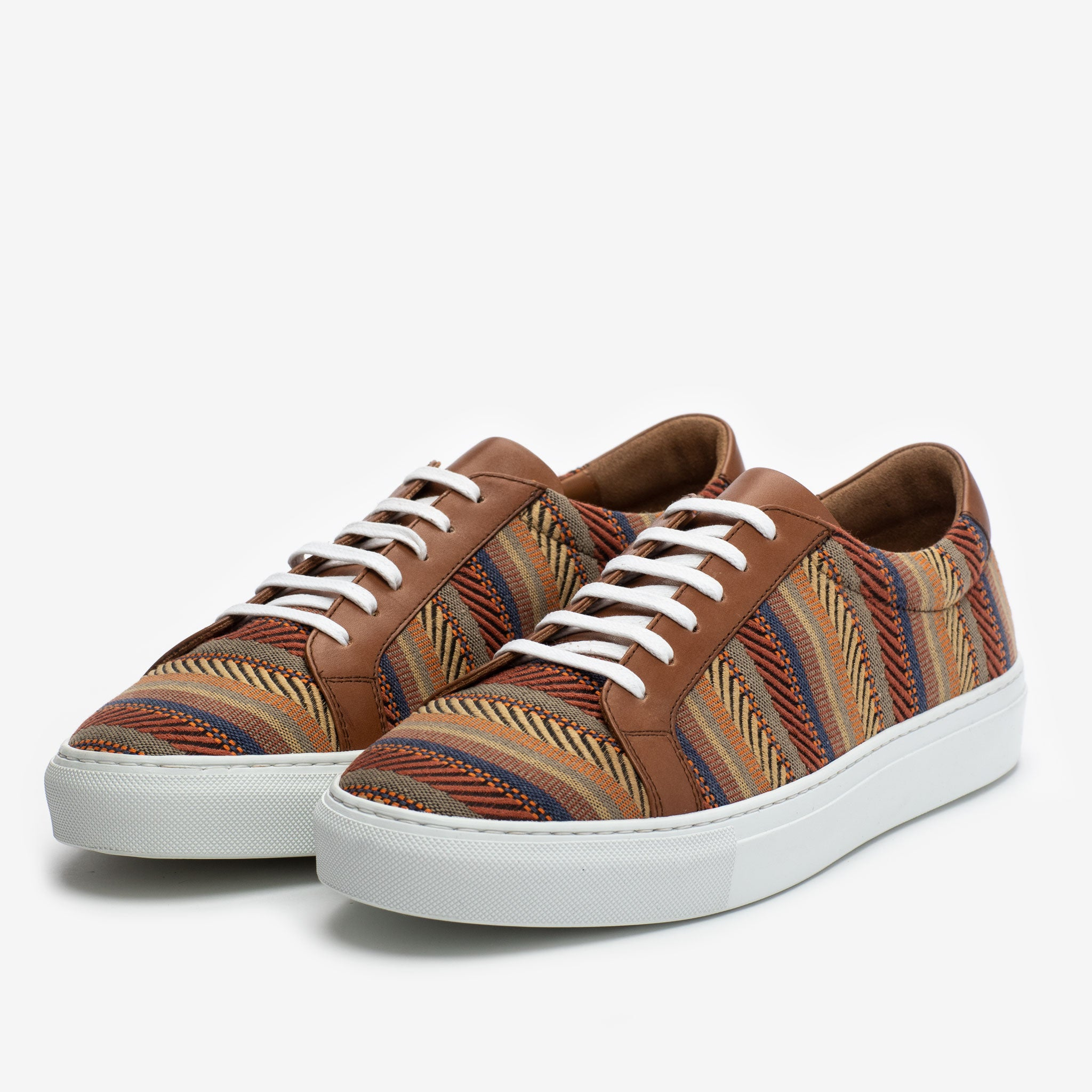 The Sneaker in Sienna Stripes side view