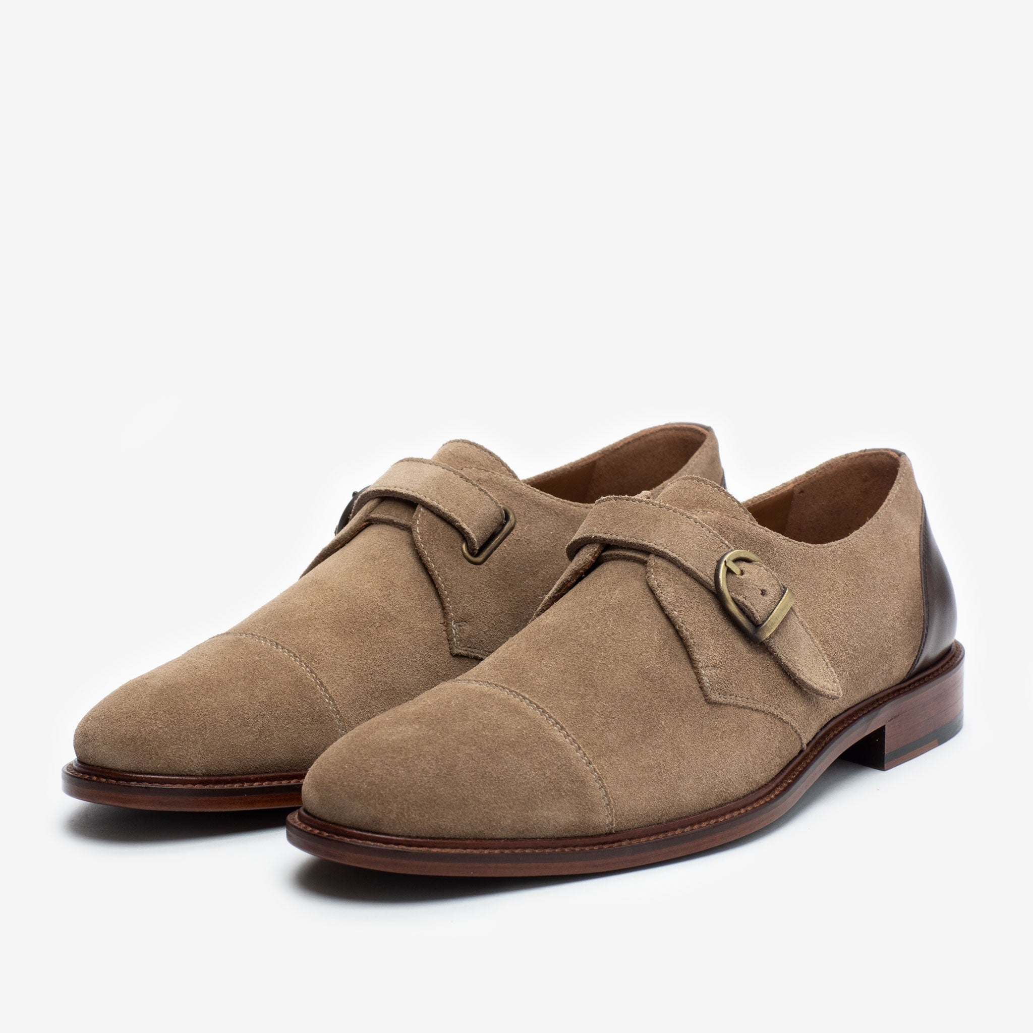 The Westminster Shoe in Beige side view
