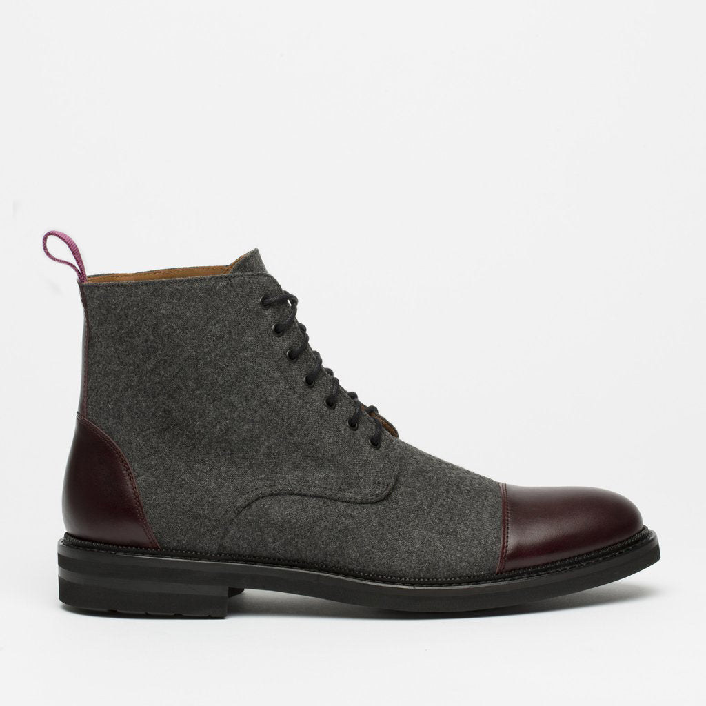 The Jack Boot in Grey Oxblood side