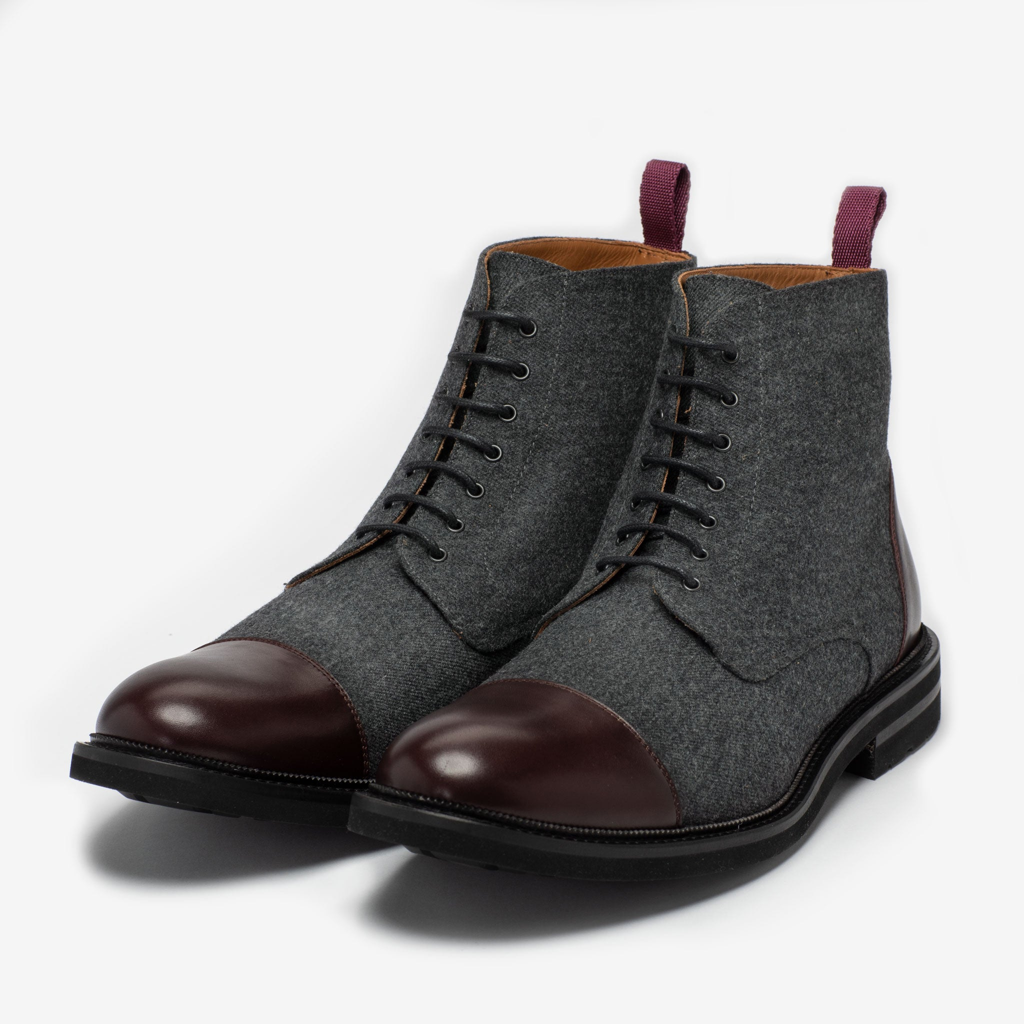 The Jack Boot in Grey Oxblood