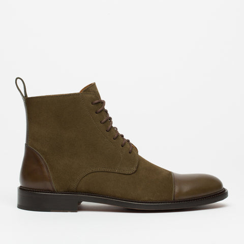 The Troy Boot in Olive