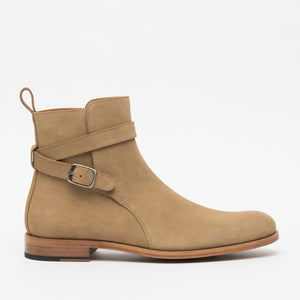 The Dylan Boot in Beige Side