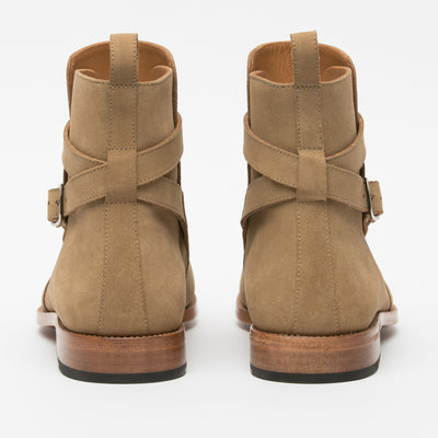 The Dylan Boot in Beige Back