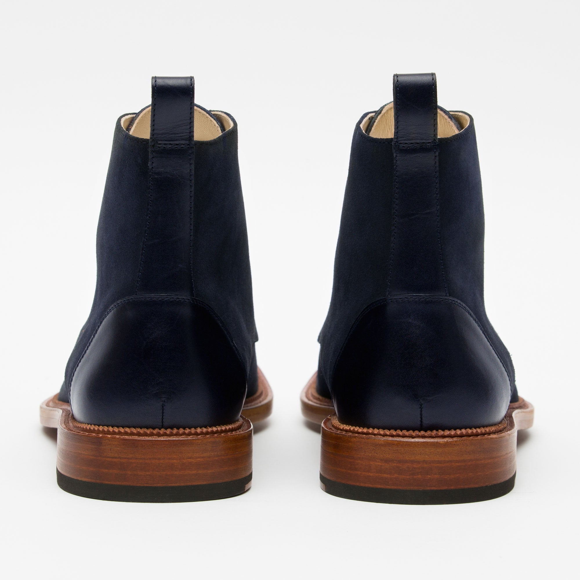 Troy Boot in Navy back view