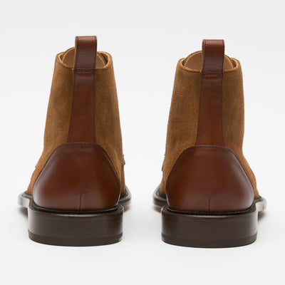 Troy Boot Cognac Back