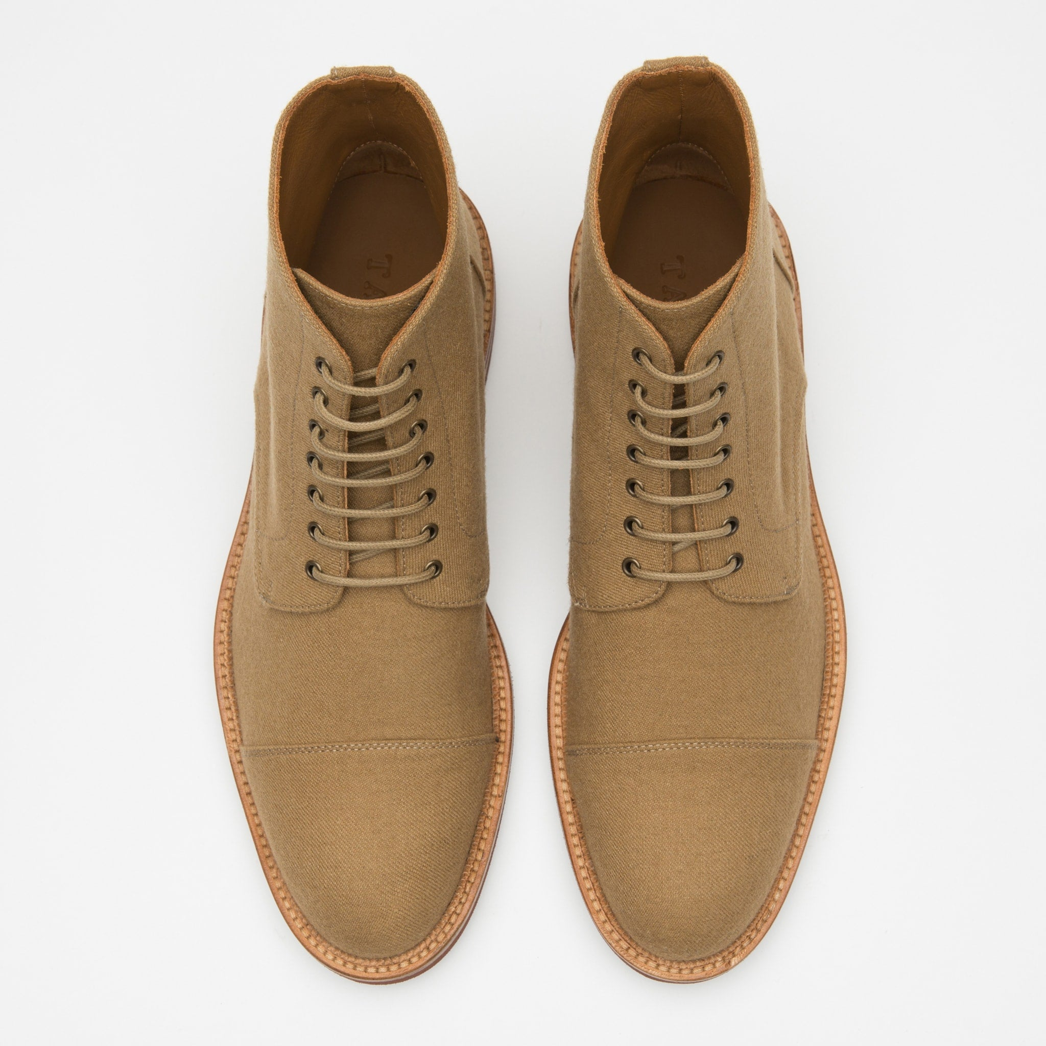 Jaro Boot in Khaki top view