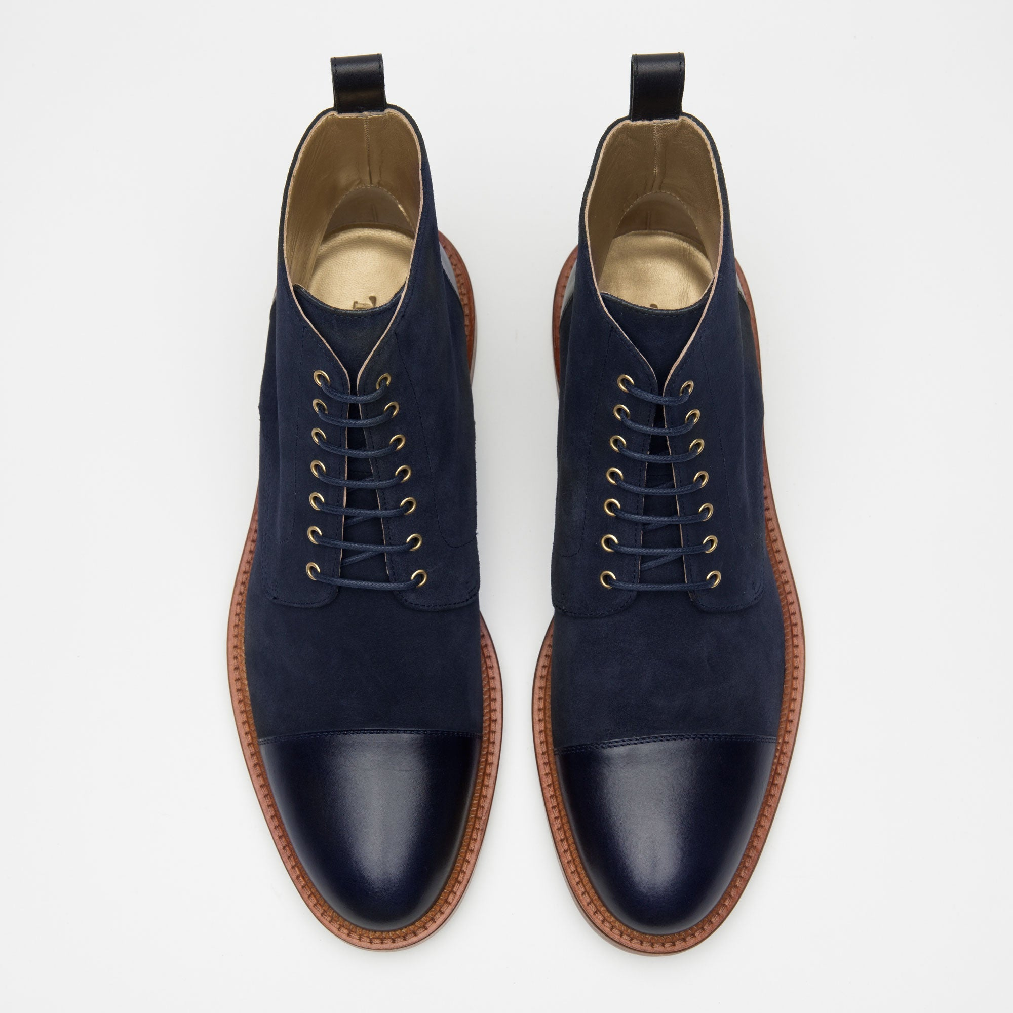 Troy Boot in Navy top view