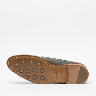 Jack Shoe Grey - Brown Bottom