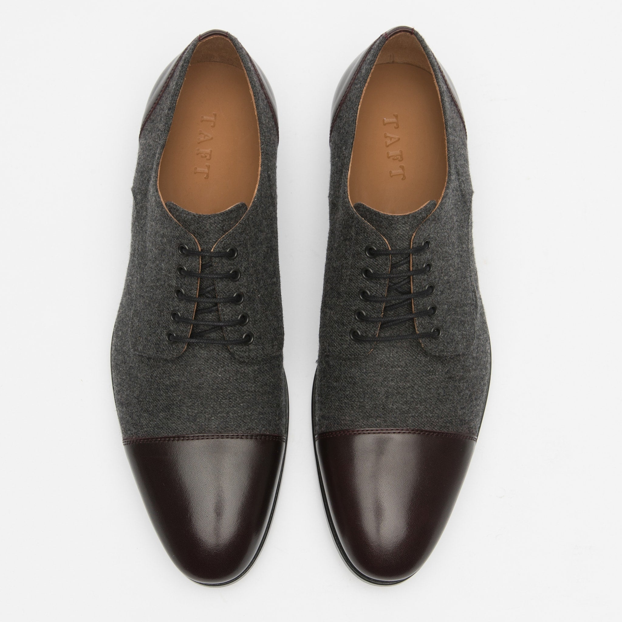 Jack Shoe in Grey Oxblood top view