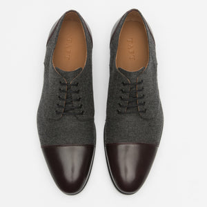 The Jack Shoe in Grey/Oxblood