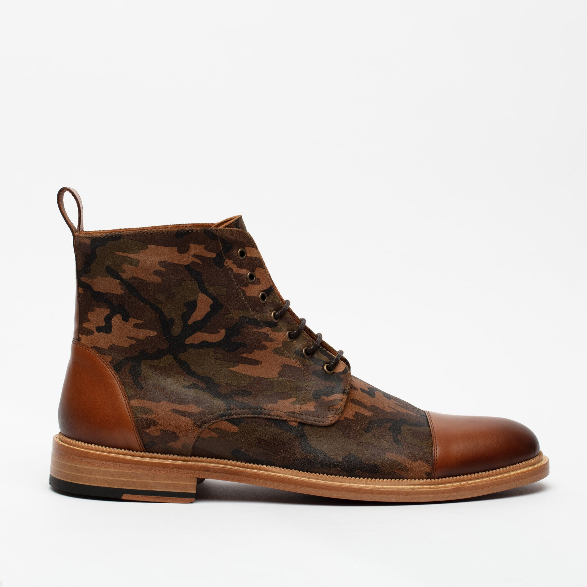 Troy Boot in Camo side view