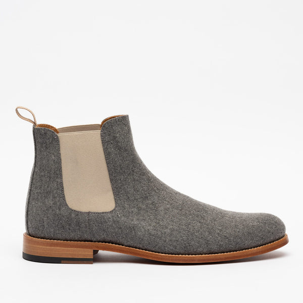 Jude Boot in Grey side view