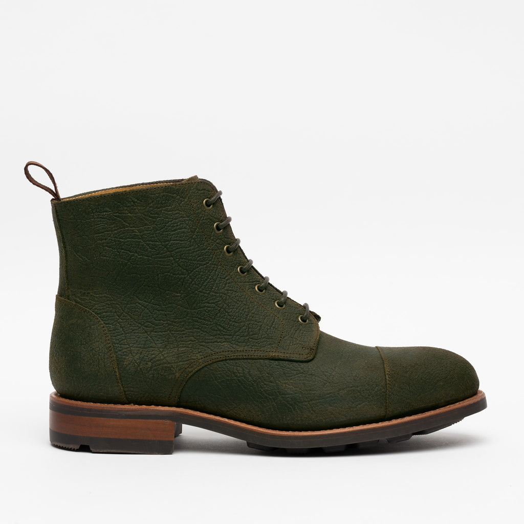 The Dragon Boot in Forest Green Side