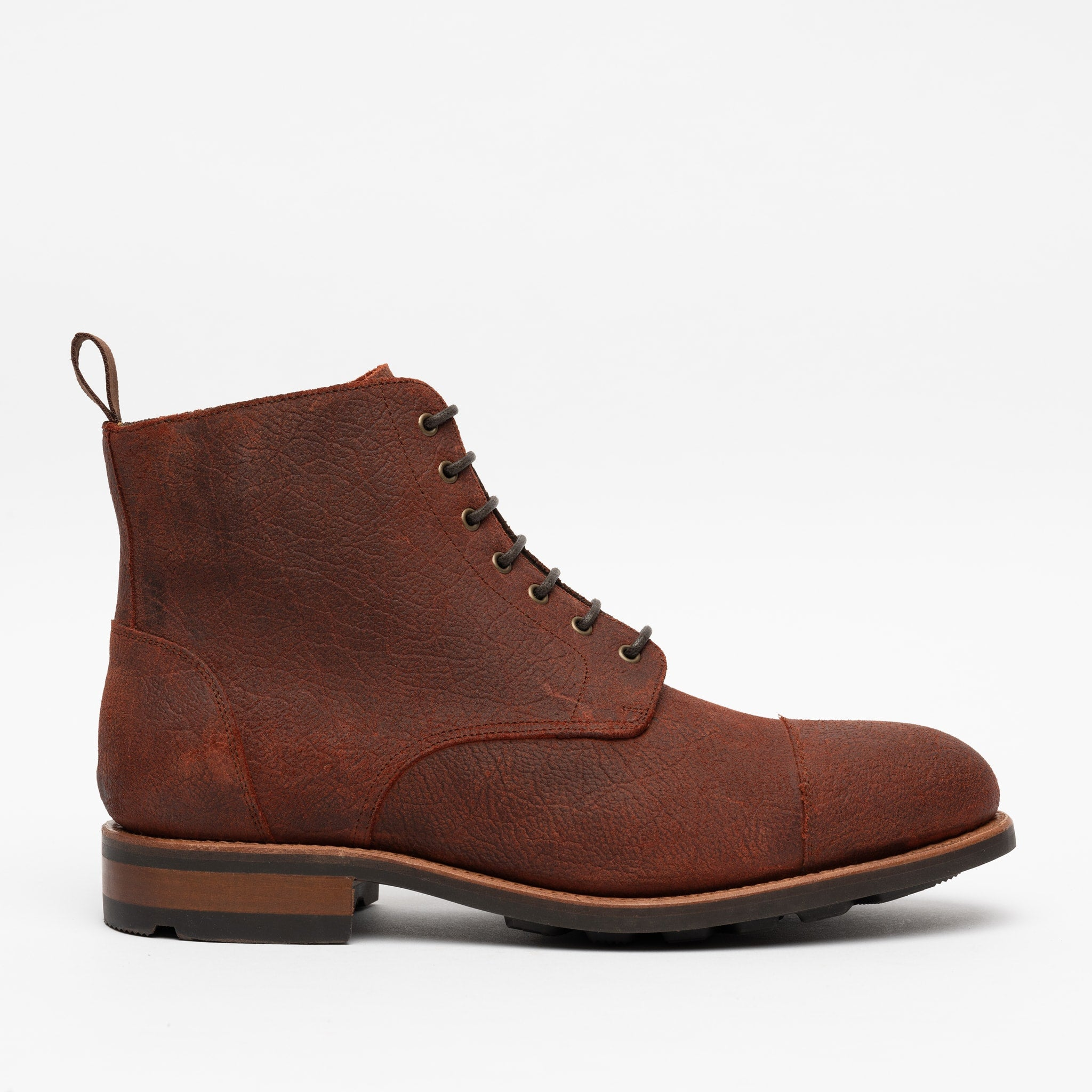 The Dragon Boot in Oxblood Side