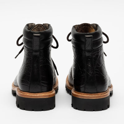 Viking Boot in Ebony back view