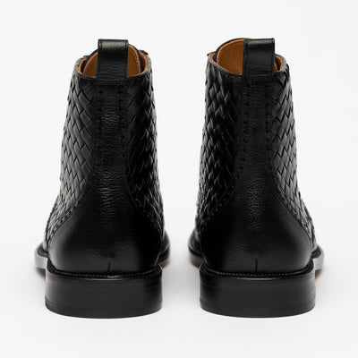 Saint Boot in Black back view