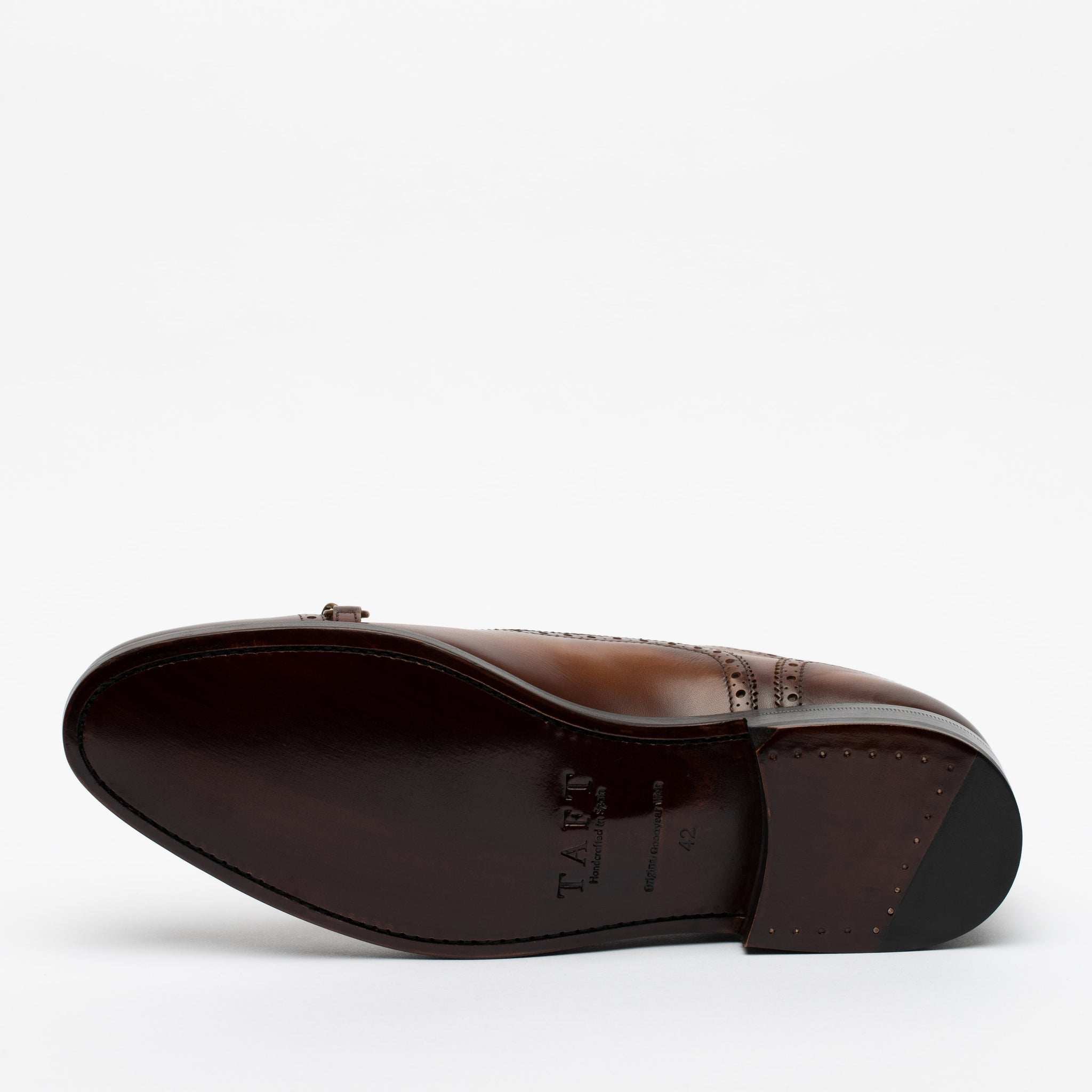 The Grail Shoe in Coffee Bottom Sole