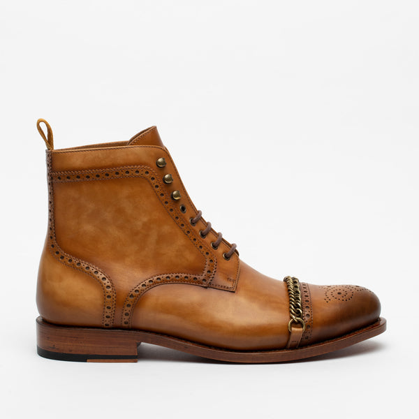The Grail Boot in Honey Side