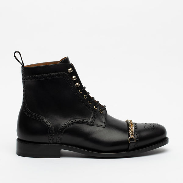 The Grail Boot in Black Side
