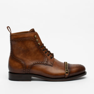 The Grail Boot in Coffee Side