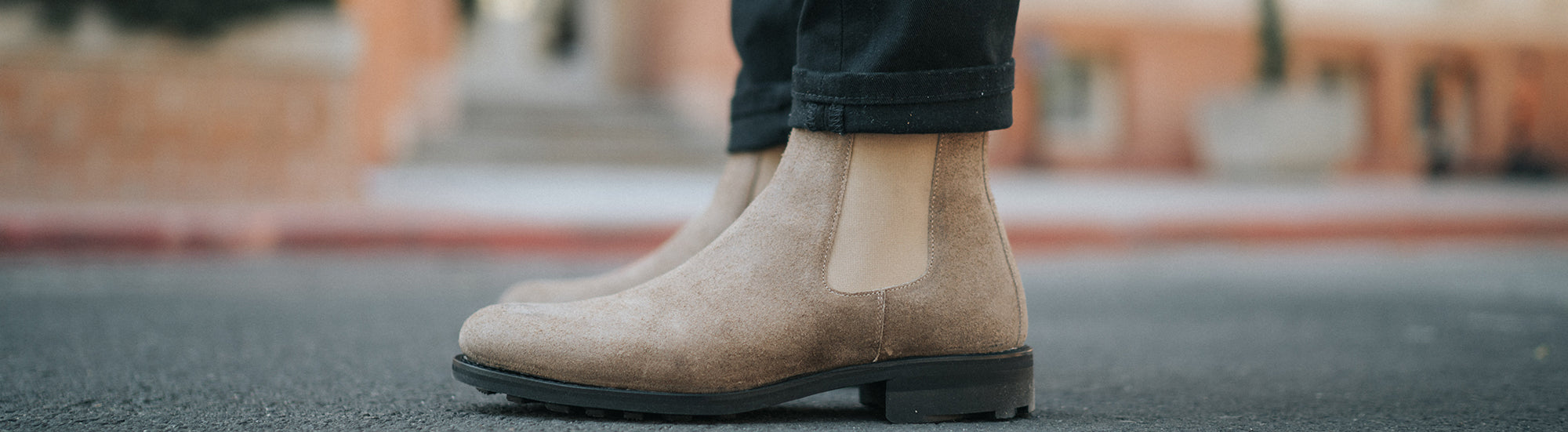 The Drake Boot in Gaucho on model