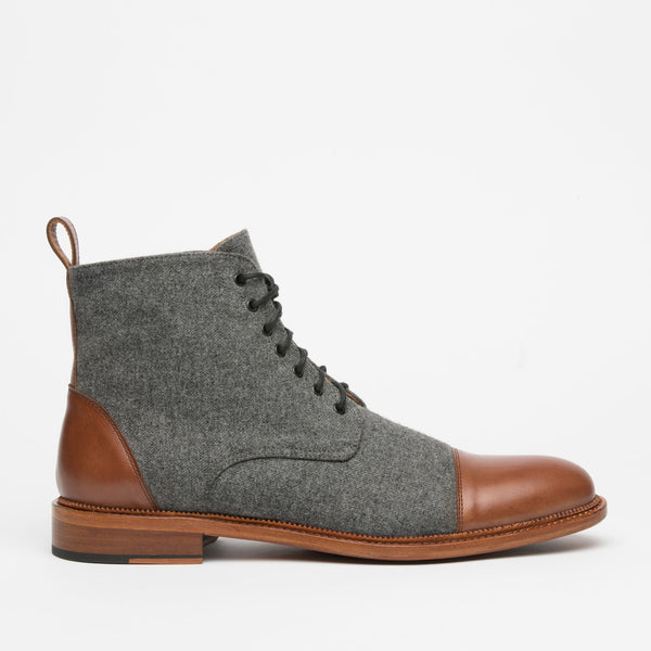 Jack Boot in Grey/Brown side view