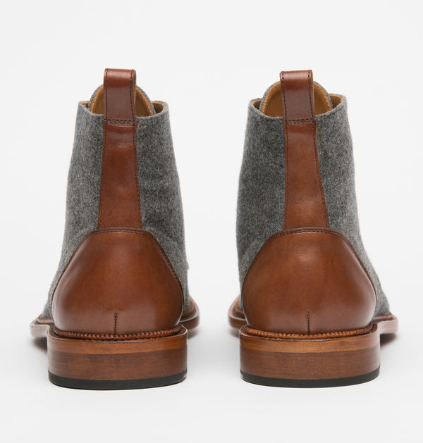 Jack Boot in Grey/Brown back view