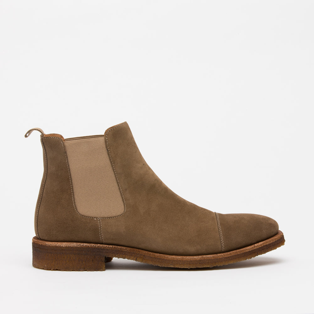 The Outback Boot in Taupe side view