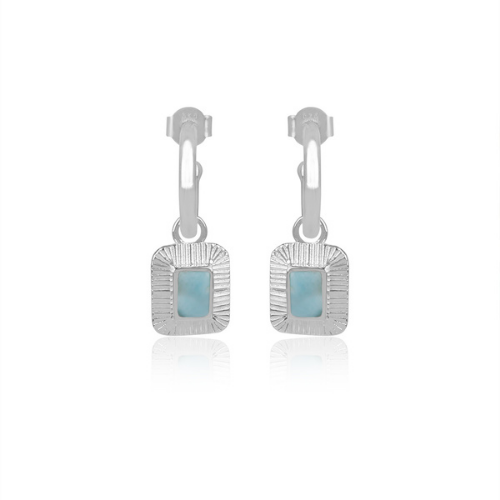 Aelia Larimar Earrings