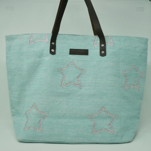 Handwoven Star Tote Bags