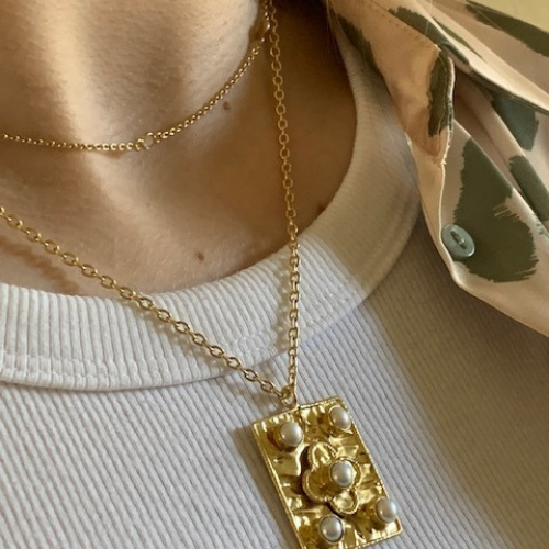 Gold plated Sahara necklace