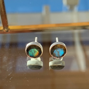 Labradorite Stud Earrings