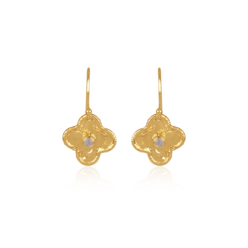 Gold plated moonstone earrings