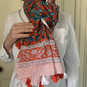 Cotton Scarf/Sarong with Tassels