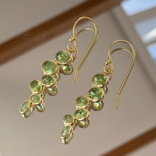 Peridot Pendant Earrings
