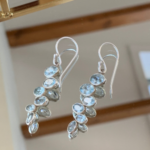 Sky Blue Topaz Pendant Earrings