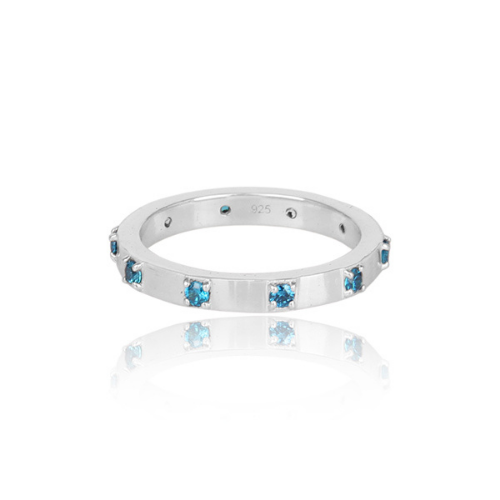 Stacking Rings - Turquoise or Sapphire colours
