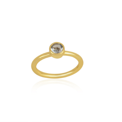 gold plated topaz ring