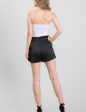 Load image into Gallery viewer, Black Satin Shorts