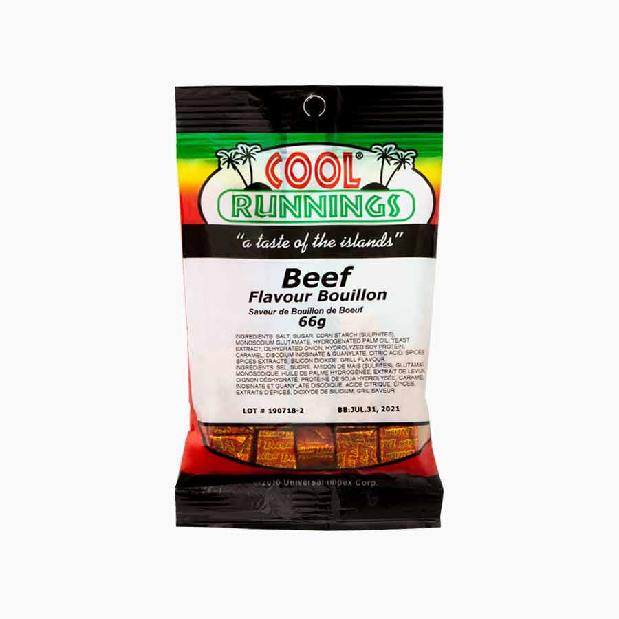 Cool Runnings beef bouillon cubes