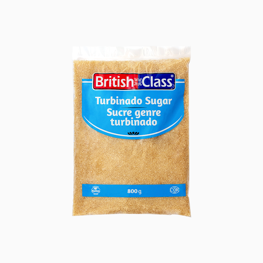 British Class turbinado sugar