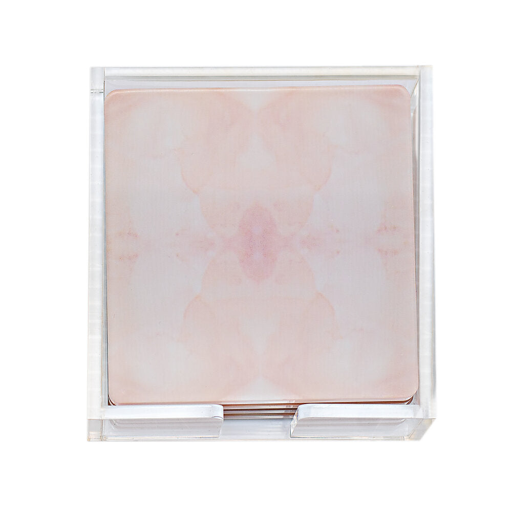 Blush overflow coasters