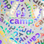 Load image into Gallery viewer, Holographic Camp Sticker